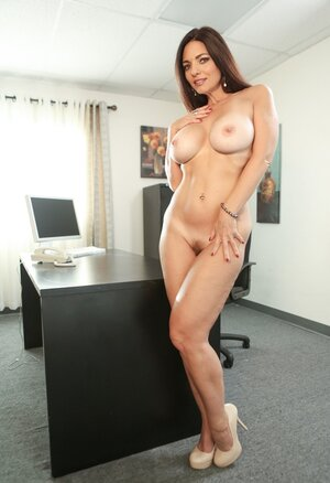 Xxx star with crazy eyes and plus jugs reveals her prime pride in the office