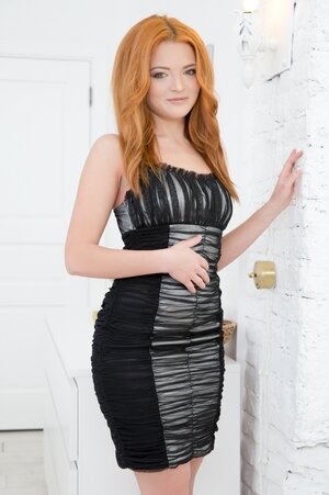 Smokin' hot ginger slut Ketti strips for client and gets it on in an anal way