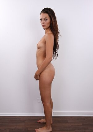 Latina 18-19 y.o. honey takes clothes off fraction by fraction remaining fully naked