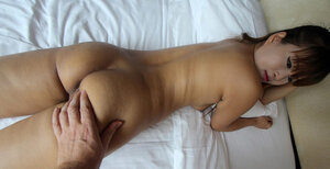 Far eastern is cute in her lacy panties so man scores her and smears lips with sperm